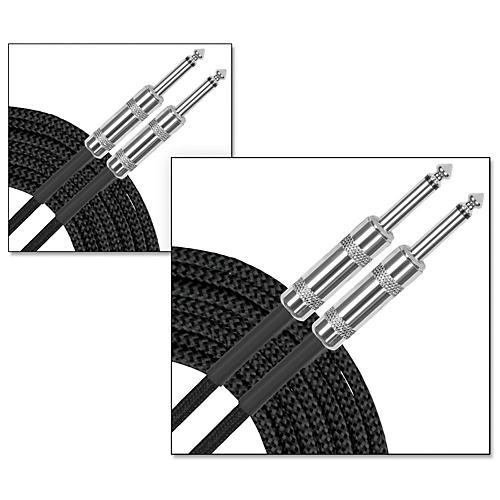 Musician's Gear Standard Instrument Cable Braid-20 ft.-Black (2 Pack) thumbnail