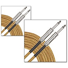 Musician's Gear Standard Instrument Cable Tweed-20 ft.-Gold (2 Pack)