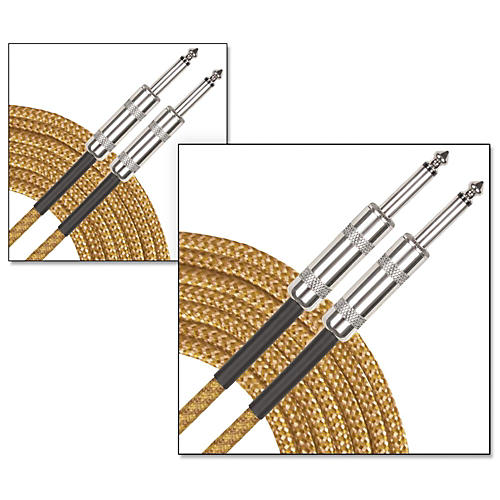 Musician's Gear Standard Instrument Cable Tweed-20 ft.-Gold (2 Pack) thumbnail