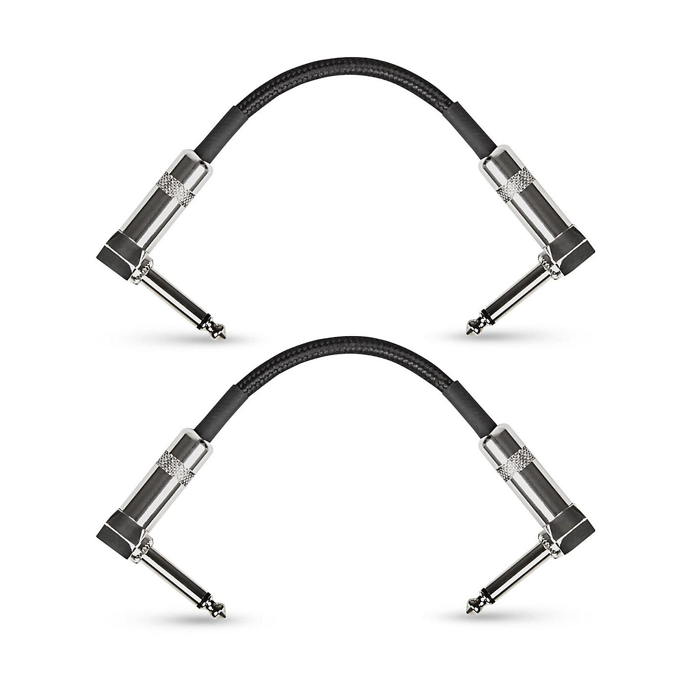 Musician's Gear Standard Instrument Patch Cable-6 in.-Black (2 Pack) thumbnail