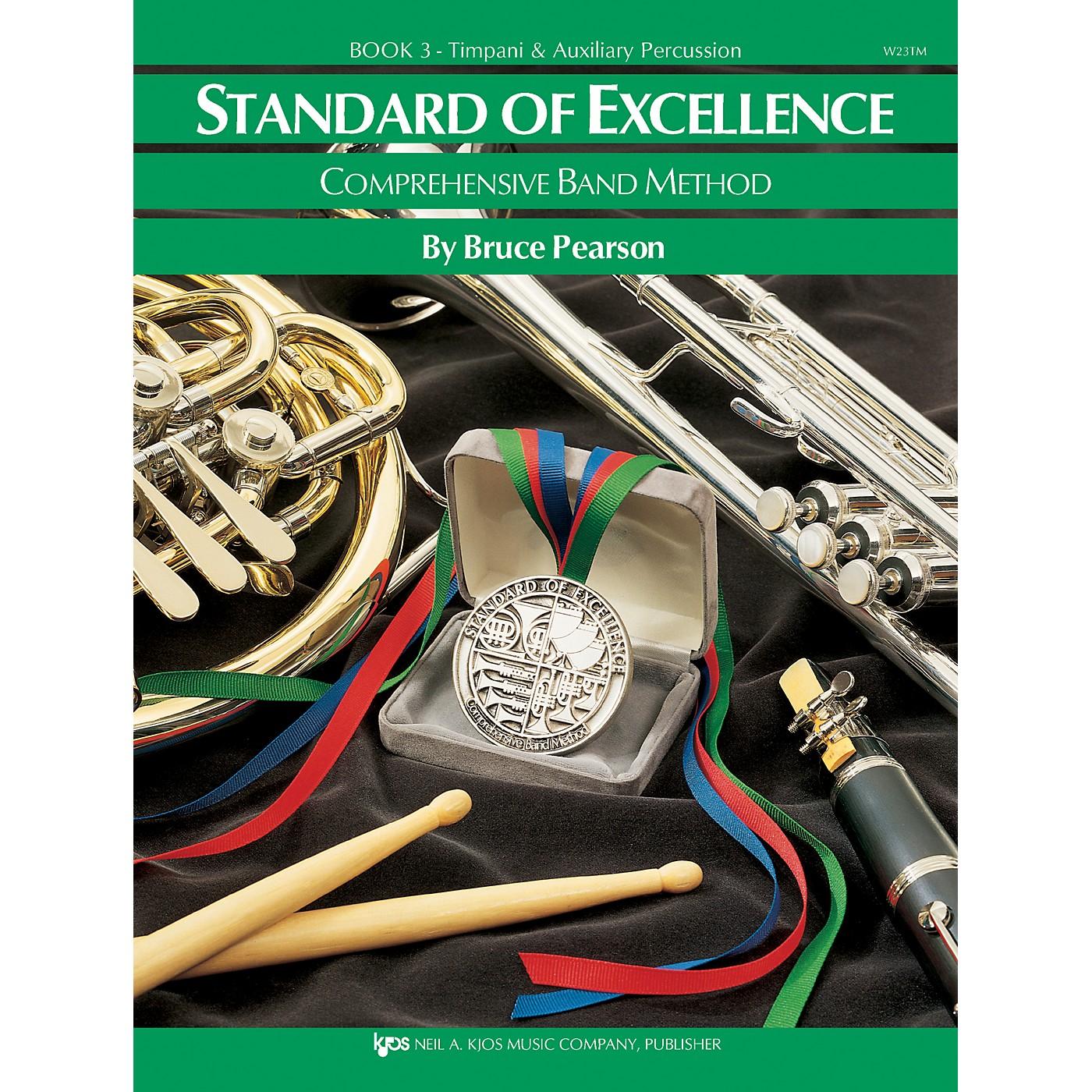 KJOS Standard Of Excellence Book 3 Timpani/Aux Perc thumbnail