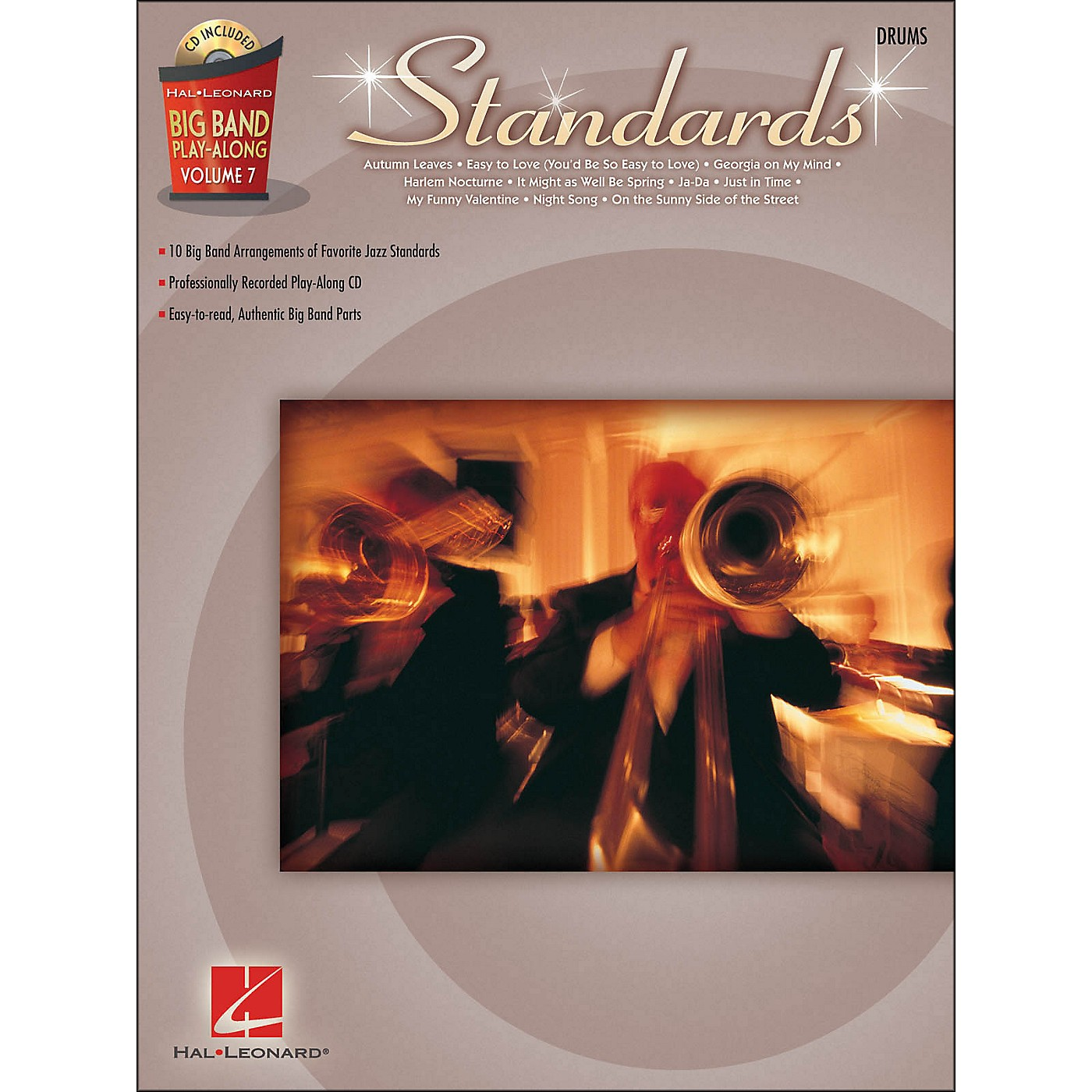 Hal Leonard Standards - Big Band Play-Along Vol. 7 Drums thumbnail