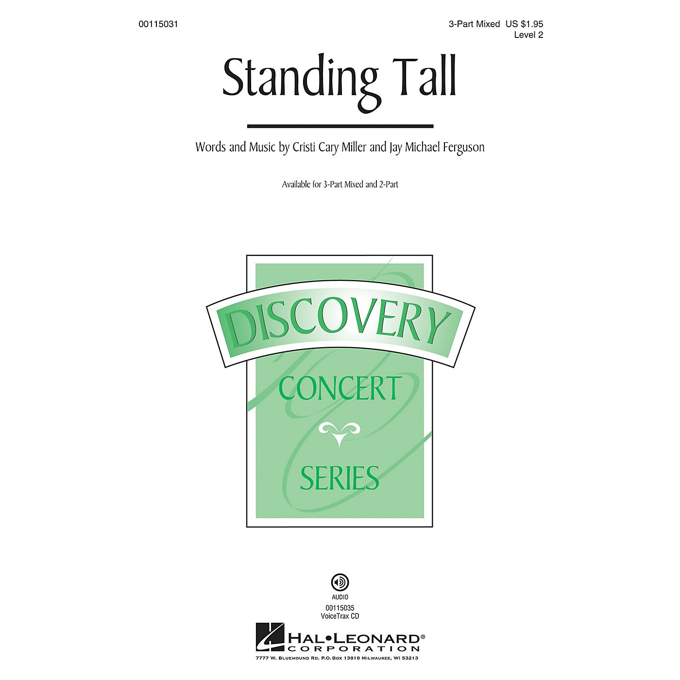 Hal Leonard Standing Tall (Discovery Level 2) 2-Part Composed by Cristi Cary Miller thumbnail