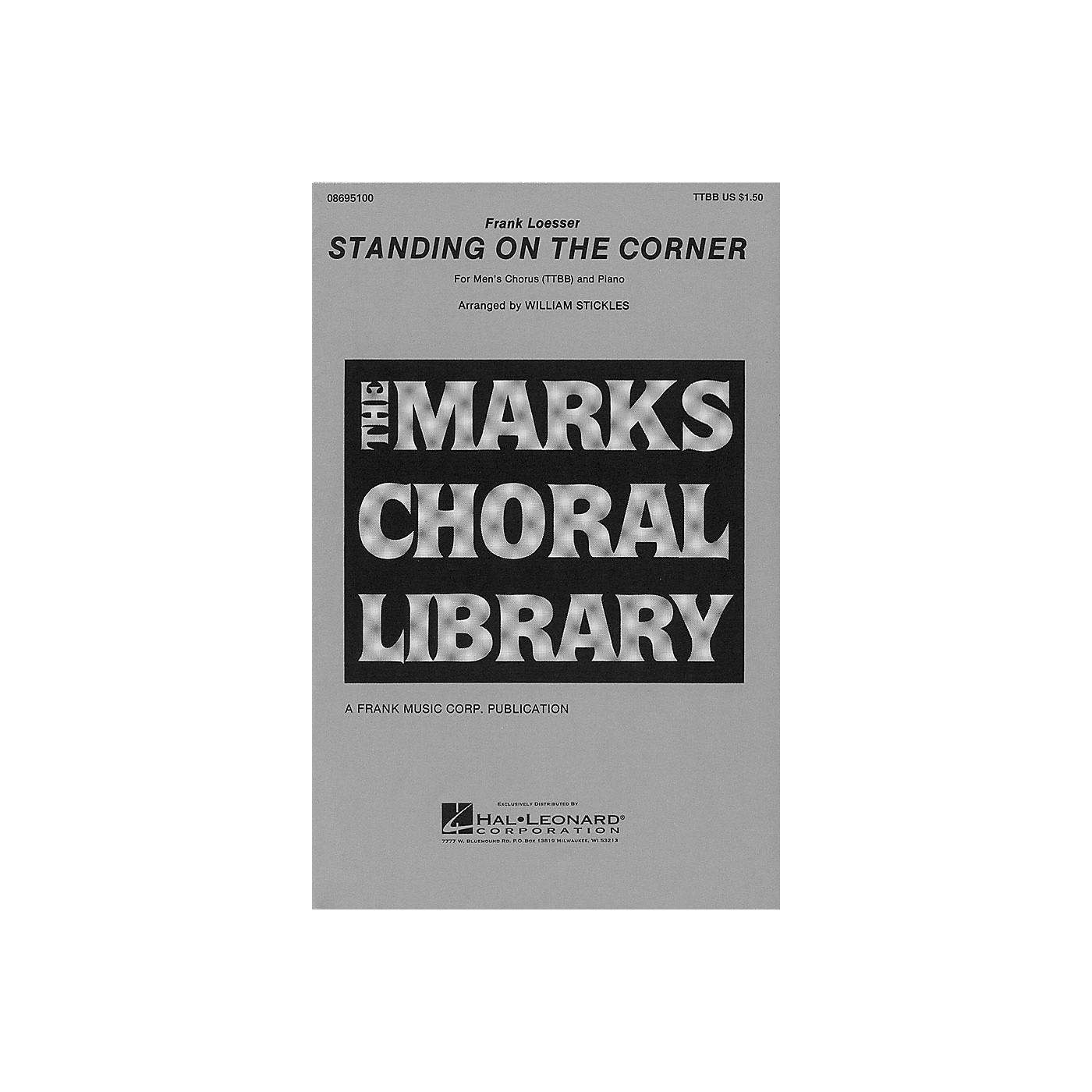 Hal Leonard Standing on the Corner TTBB arranged by William Stickles thumbnail