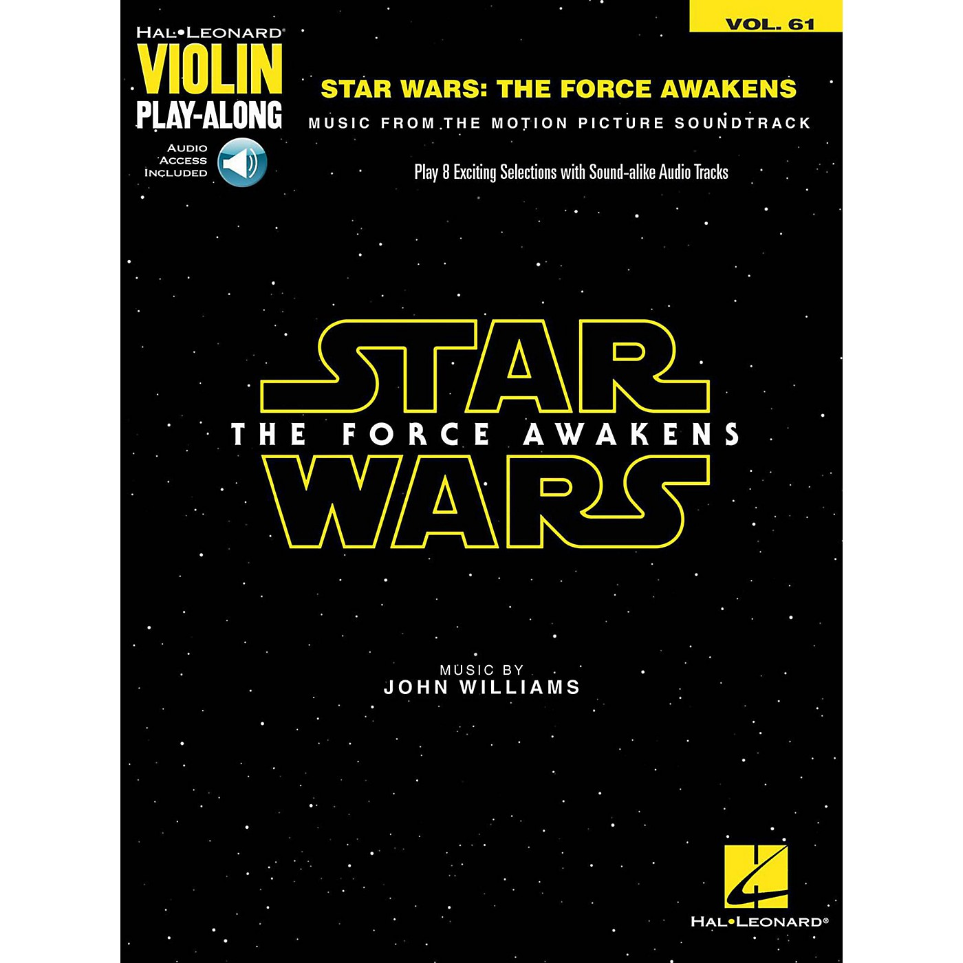 Hal Leonard Star Wars - The Force Awakens Violin Play-Along Volume 61 (Book/Audio Online) thumbnail