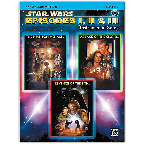 Alfred Star Wars: Episodes I, II & III Instrumental Solos Piano Acc. Book & CD thumbnail