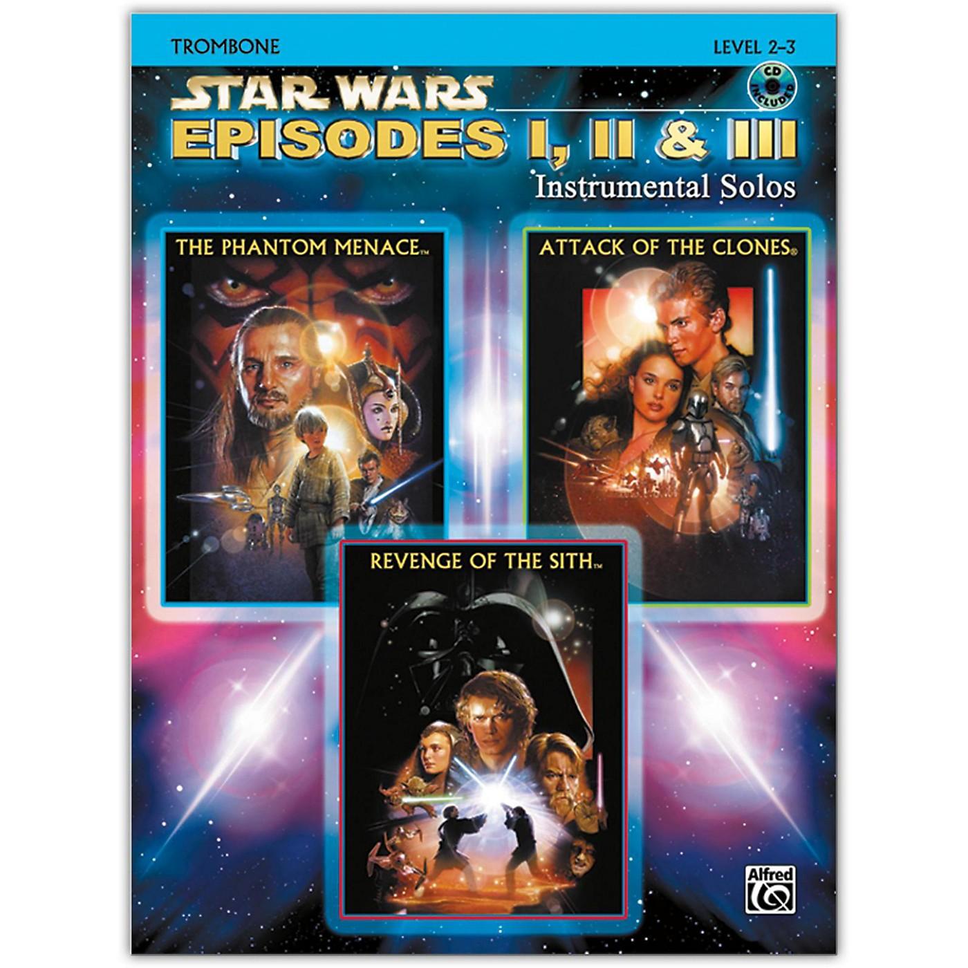 Alfred Star Wars: Episodes I, II & III Instrumental Solos Trombone Book & CD thumbnail