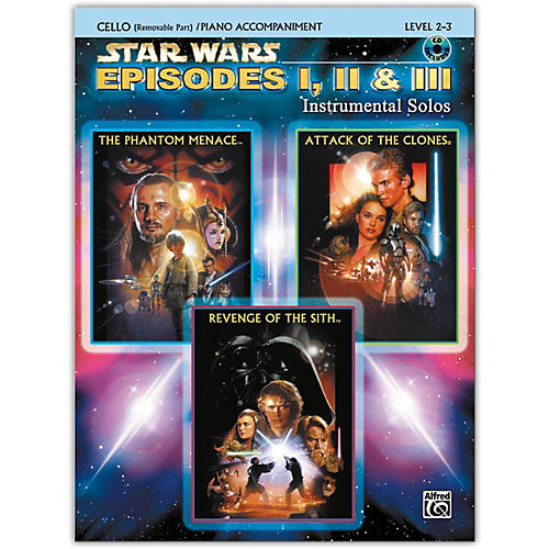Alfred Star Wars: Episodes I, II & III Instrumental Solos for Strings Cello Book & CD thumbnail