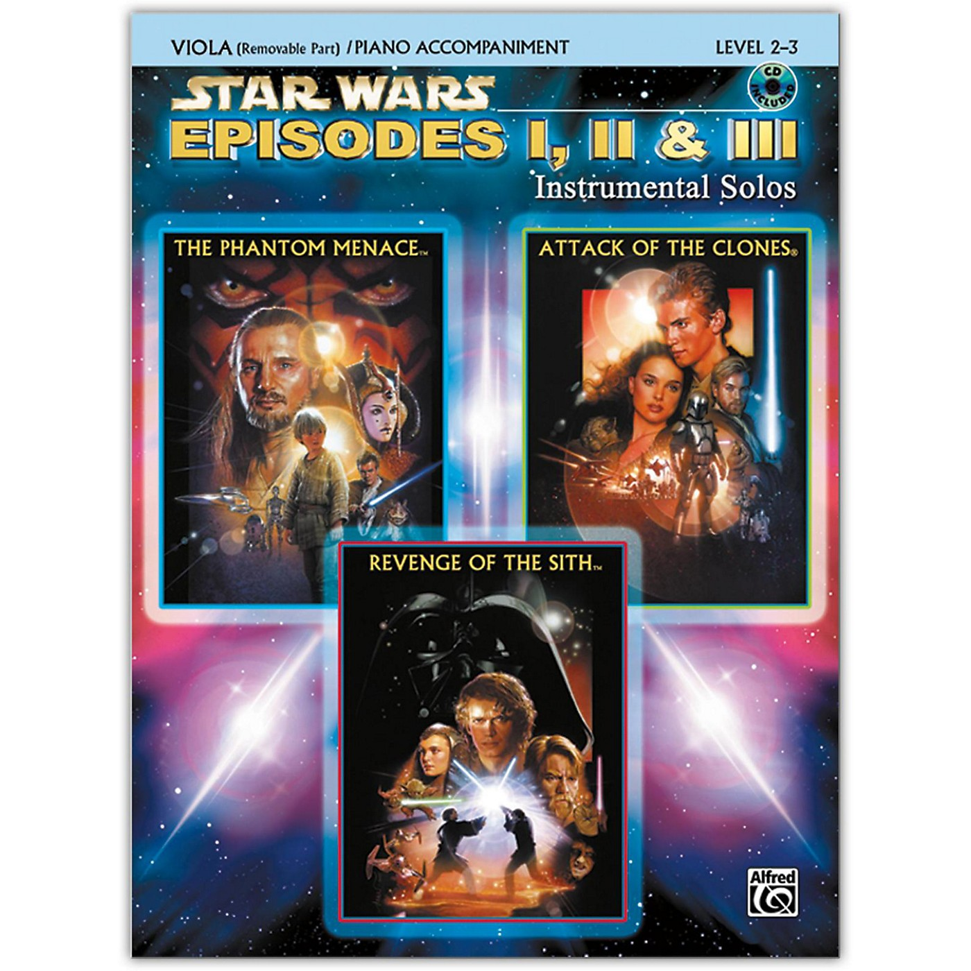 Alfred Star Wars: Episodes I, II & III Instrumental Solos for Strings Viola Book & CD thumbnail