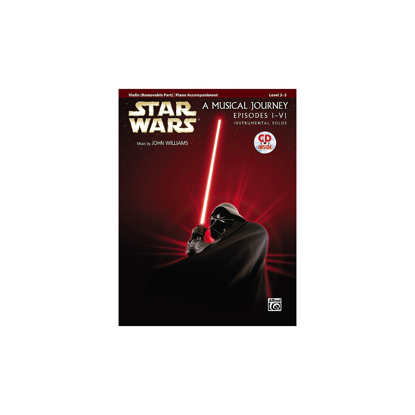 Alfred Star Wars Violin Instrumental Solos for Strings (Movies I-VI) Book & CD thumbnail