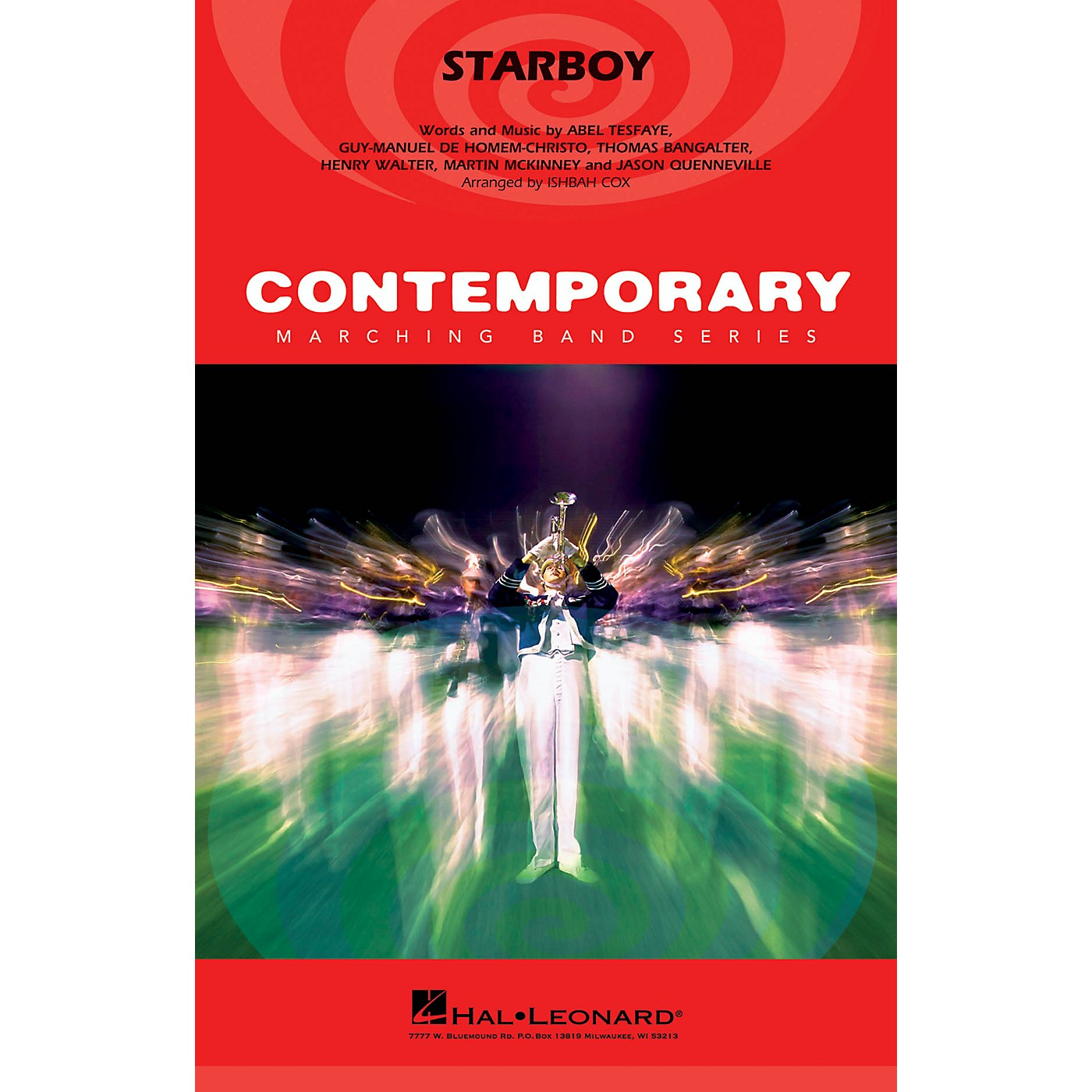 Hal Leonard Starboy Marching Band Level 3-4 by The Weeknd Arranged by Ishbah Cox thumbnail