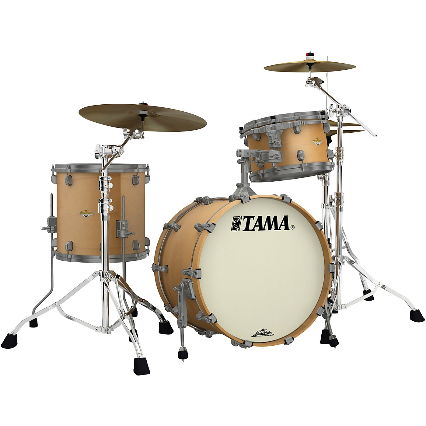 TAMA Starclassic Maple 3-Piece Shell Pack with Smoked Black Nickel Hardware and 20 in. Bass Drum thumbnail