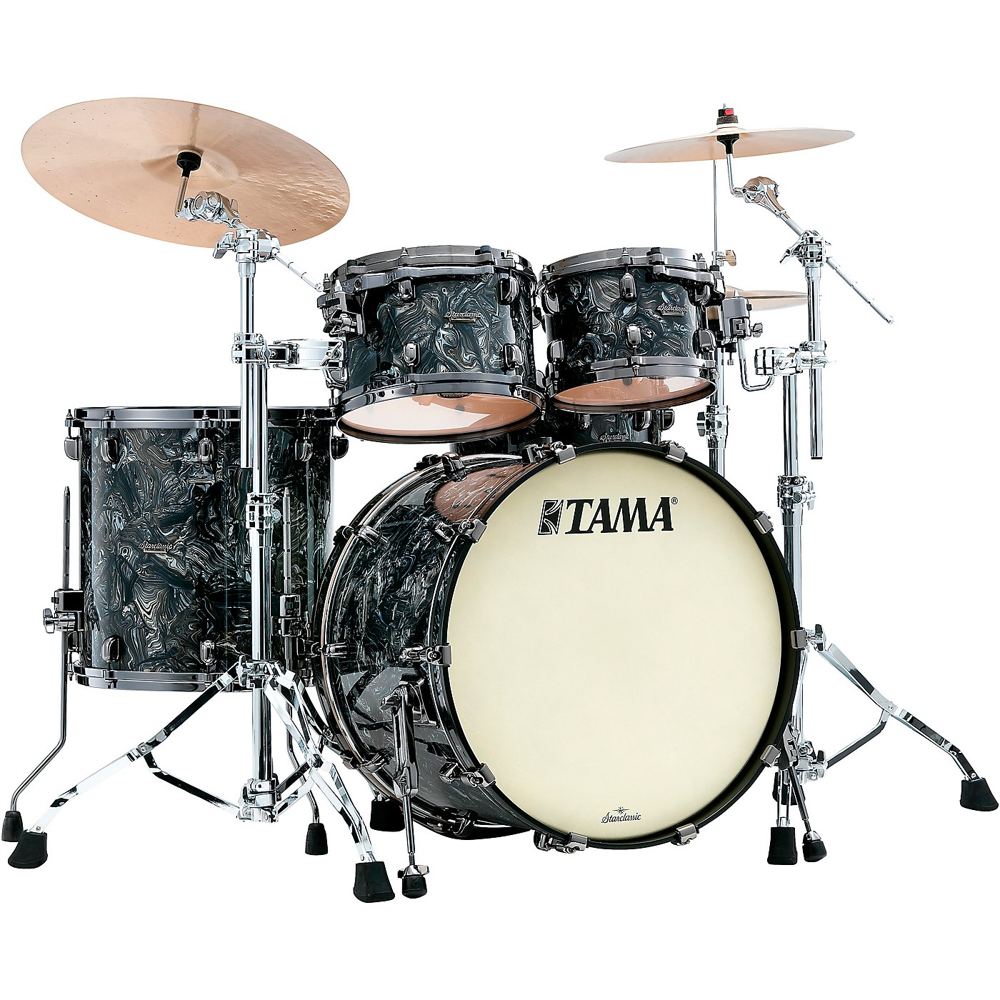 TAMA Starclassic Maple 4-Piece Shell Pack with Black Nickel Hardware and 22 in. Bass Drum thumbnail