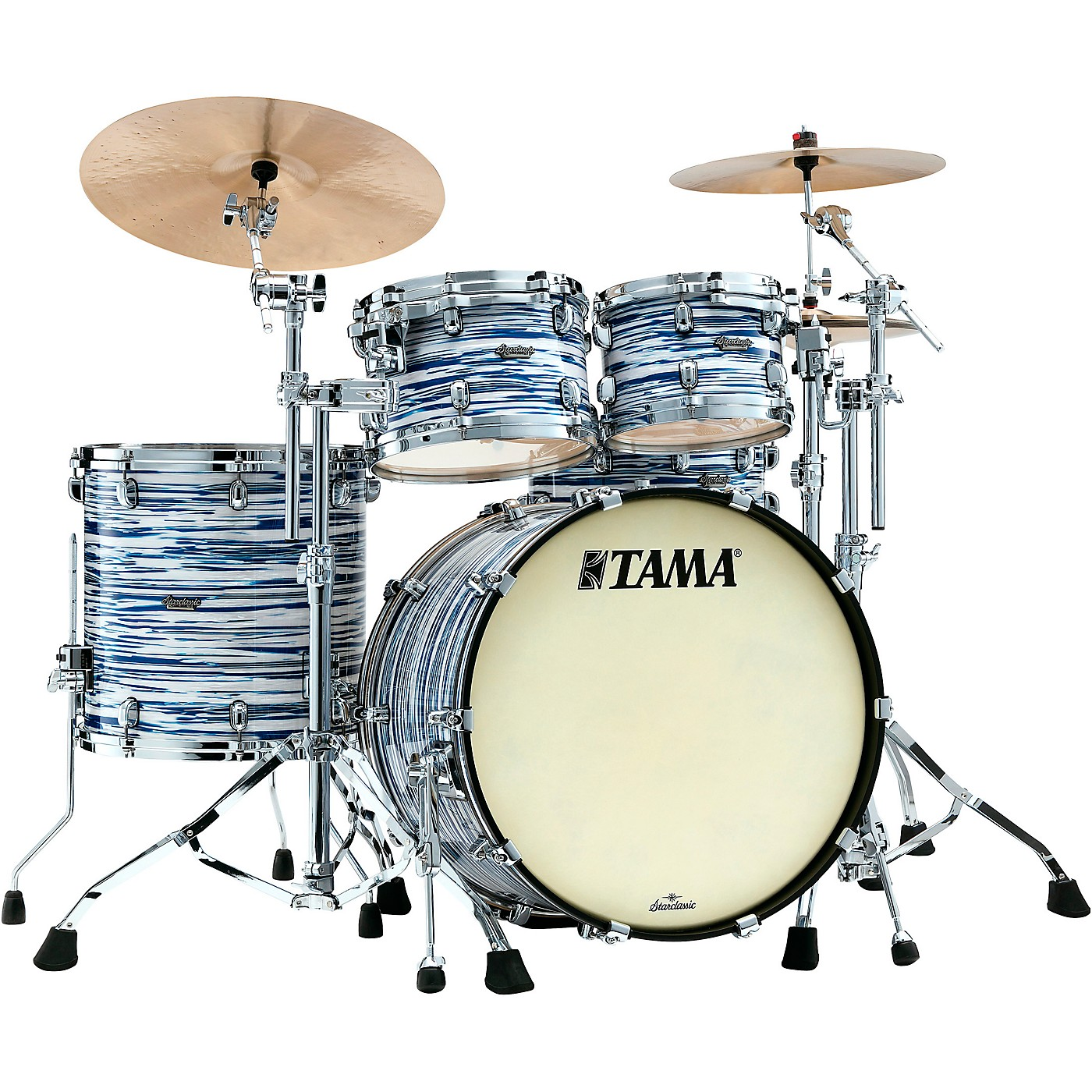 TAMA Starclassic Maple 4-Piece Shell Pack with Chrome Hardware and 22 in. Bass Drum thumbnail