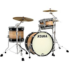 "Tama Starclassic Maple Exotix Pacific Walnut 3-Piece Shell Pack with Smoked Black Nickel Hardware and 20"" Bass Drum"