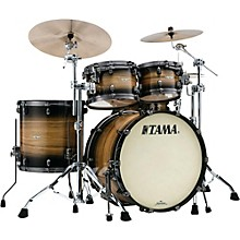 Tama Starclassic Maple Exotix Pacific Walnut 5-Piece Shell Pack with Smoked Black Nickel Hardware and 22 in. Bass Drum