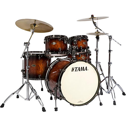 Tama Starclassic Performer B/B 4-Piece Shell Pack with Quilted Bubinga Outer Ply thumbnail