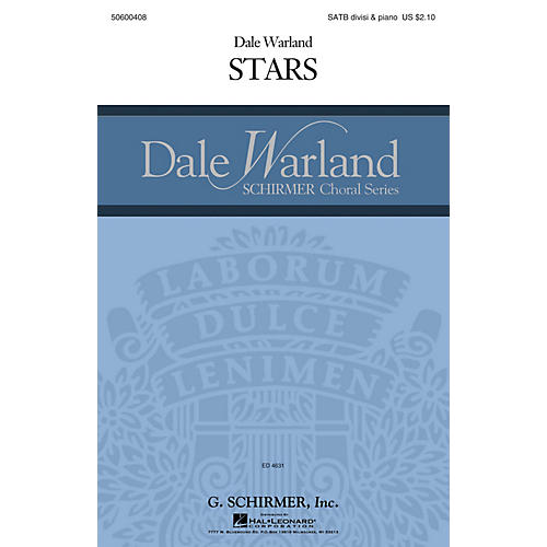 G. Schirmer Stars (Dale Warland Choral Series) SATB composed by Dale Warland thumbnail