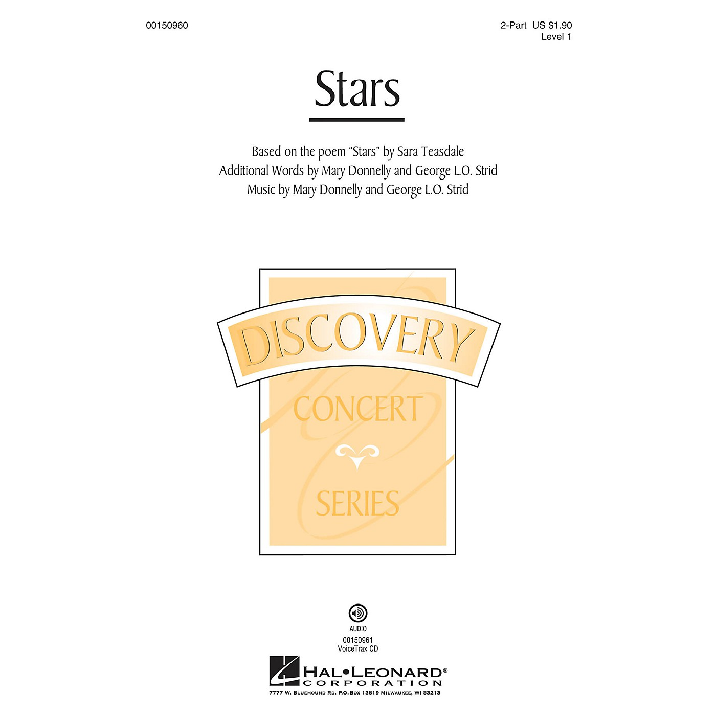 Hal Leonard Stars (Discovery Level 1) 2-Part composed by Mary Donnelly thumbnail