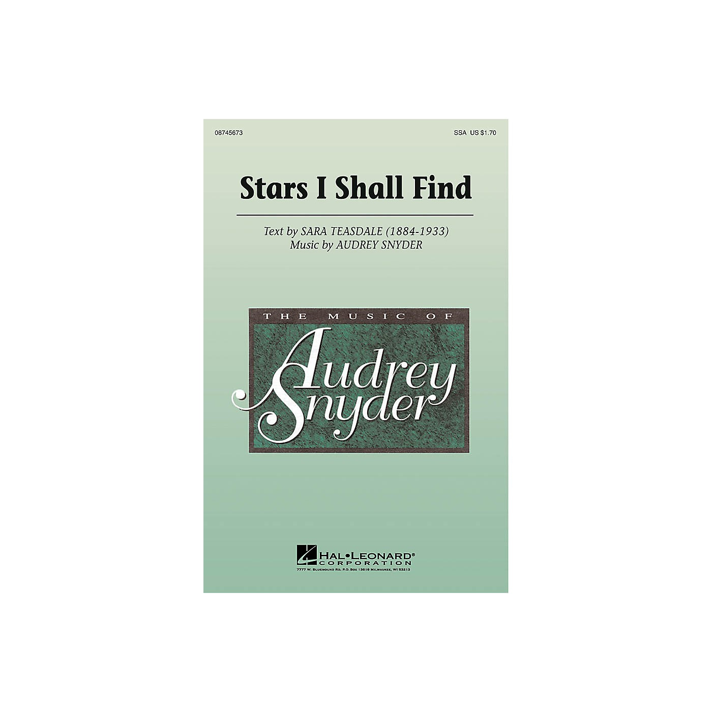 Hal Leonard Stars I Shall Find SSA composed by Audrey Snyder thumbnail