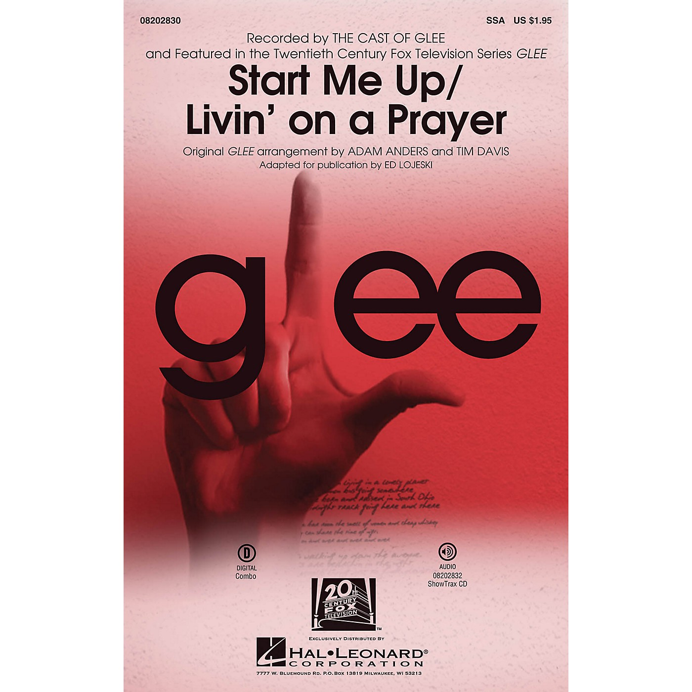 Hal Leonard Start Me Up/Livin' on a Prayer ShowTrax CD by Glee Cast Arranged by Adam Anders thumbnail