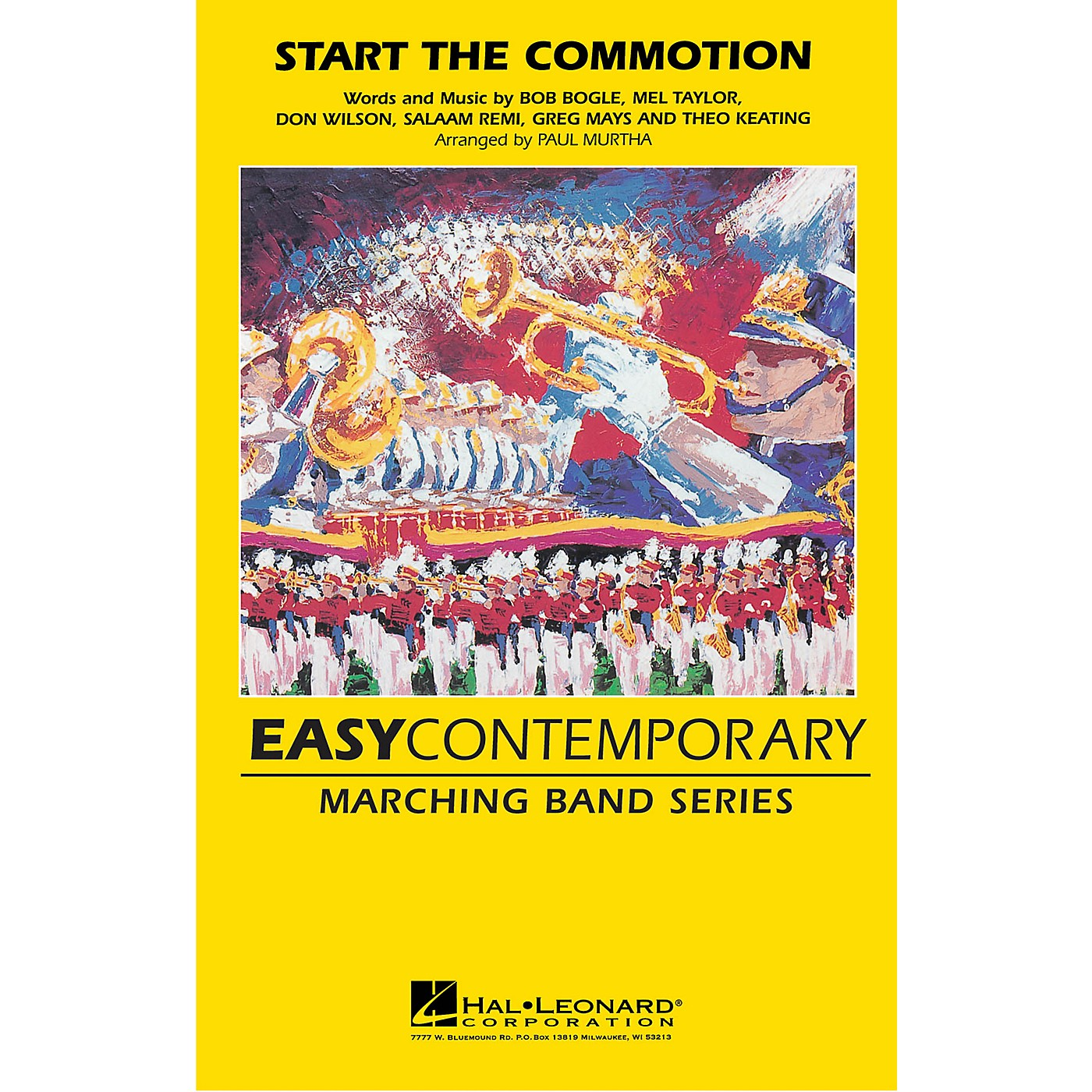 Hal Leonard Start the Commotion Marching Band Level 2-3 by The Wiseguys Arranged by Paul Murtha thumbnail