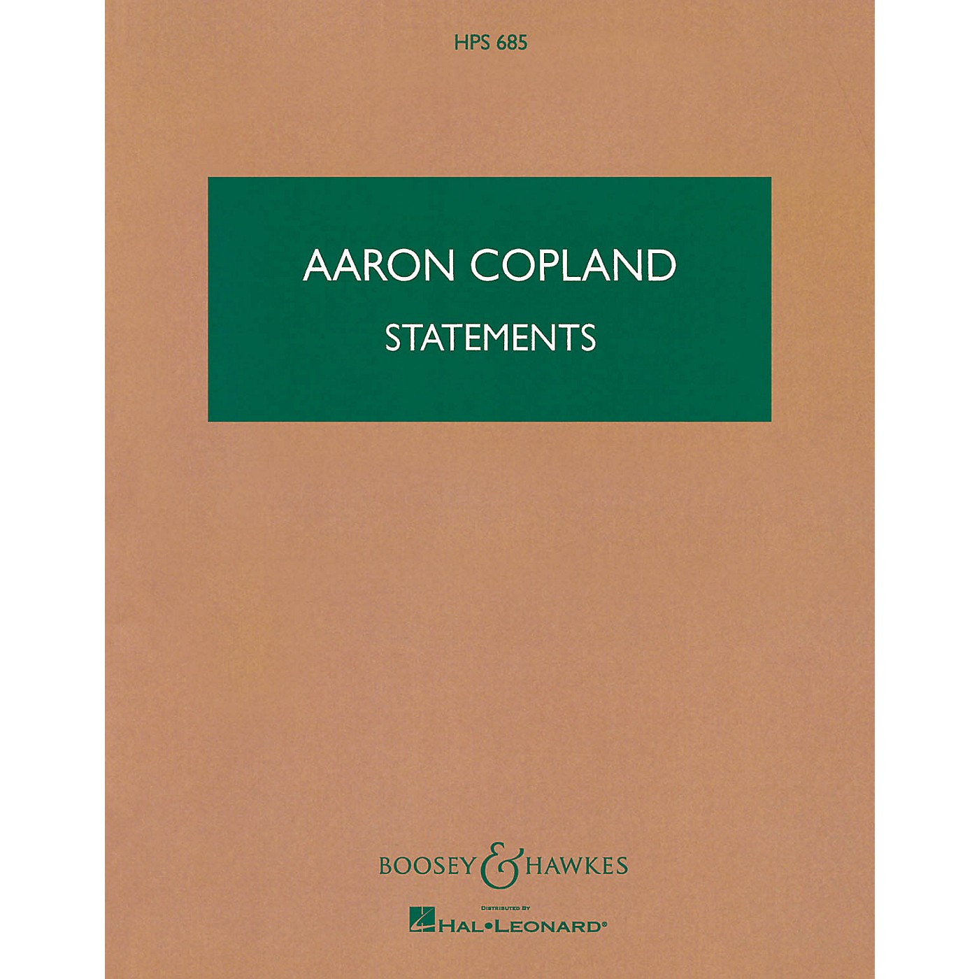 Boosey and Hawkes Statements (Study Score) Boosey & Hawkes Scores/Books Series Composed by Aaron Copland thumbnail