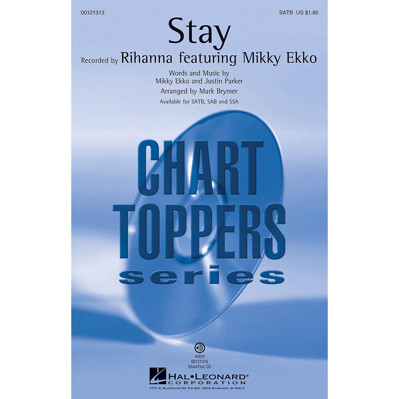 Hal Leonard Stay SSA by Rihanna Arranged by Mark Brymer thumbnail