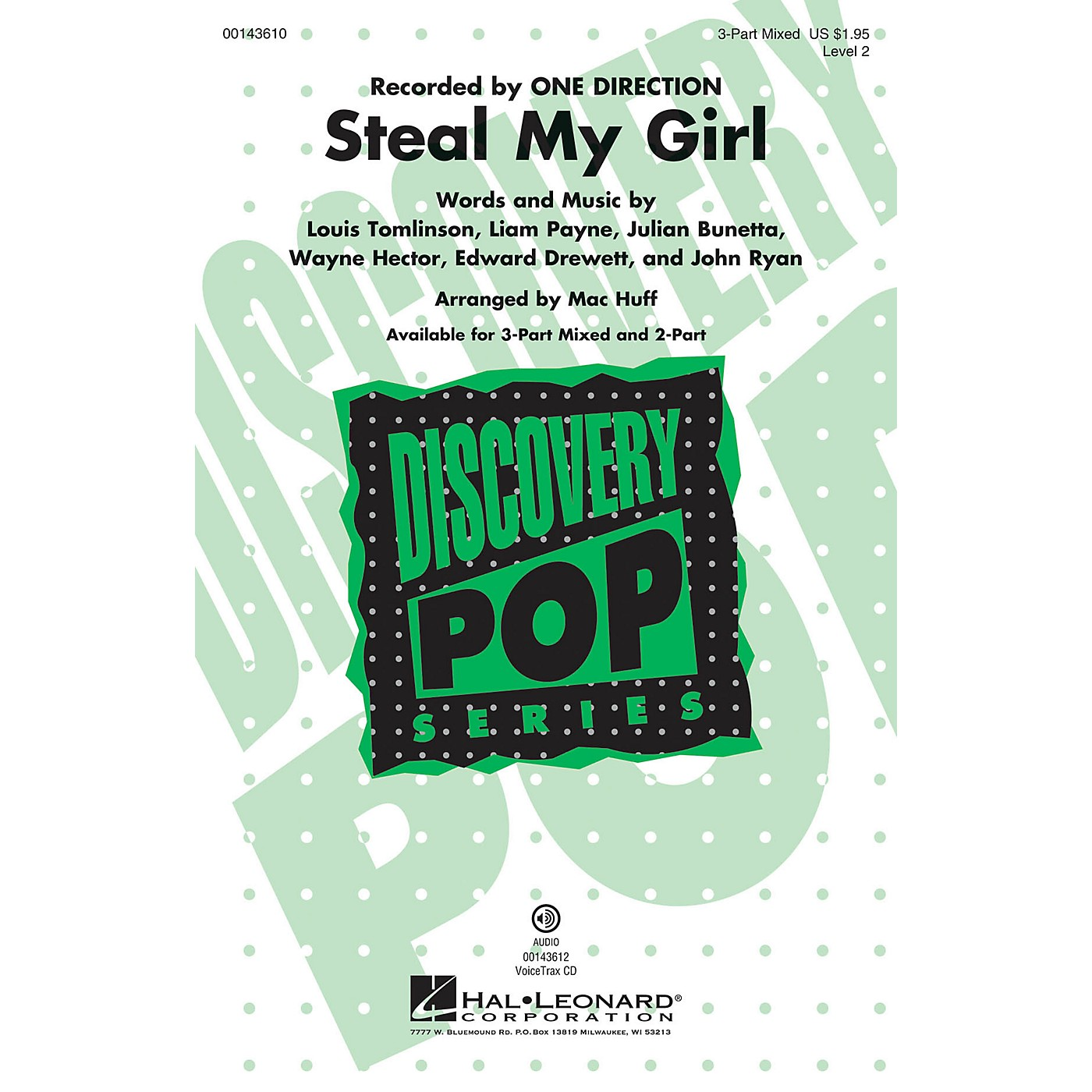 Hal Leonard Steal My Girl (Discovery Level 2) 3-Part Mixed by One Direction arranged by Mac Huff thumbnail