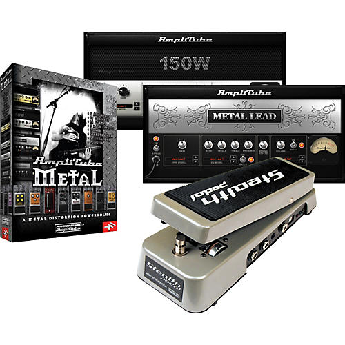 IK Multimedia StealthPedal Audio Interface/Controller + AmpliTube Metal Amp and Stompbox Modeling Software thumbnail