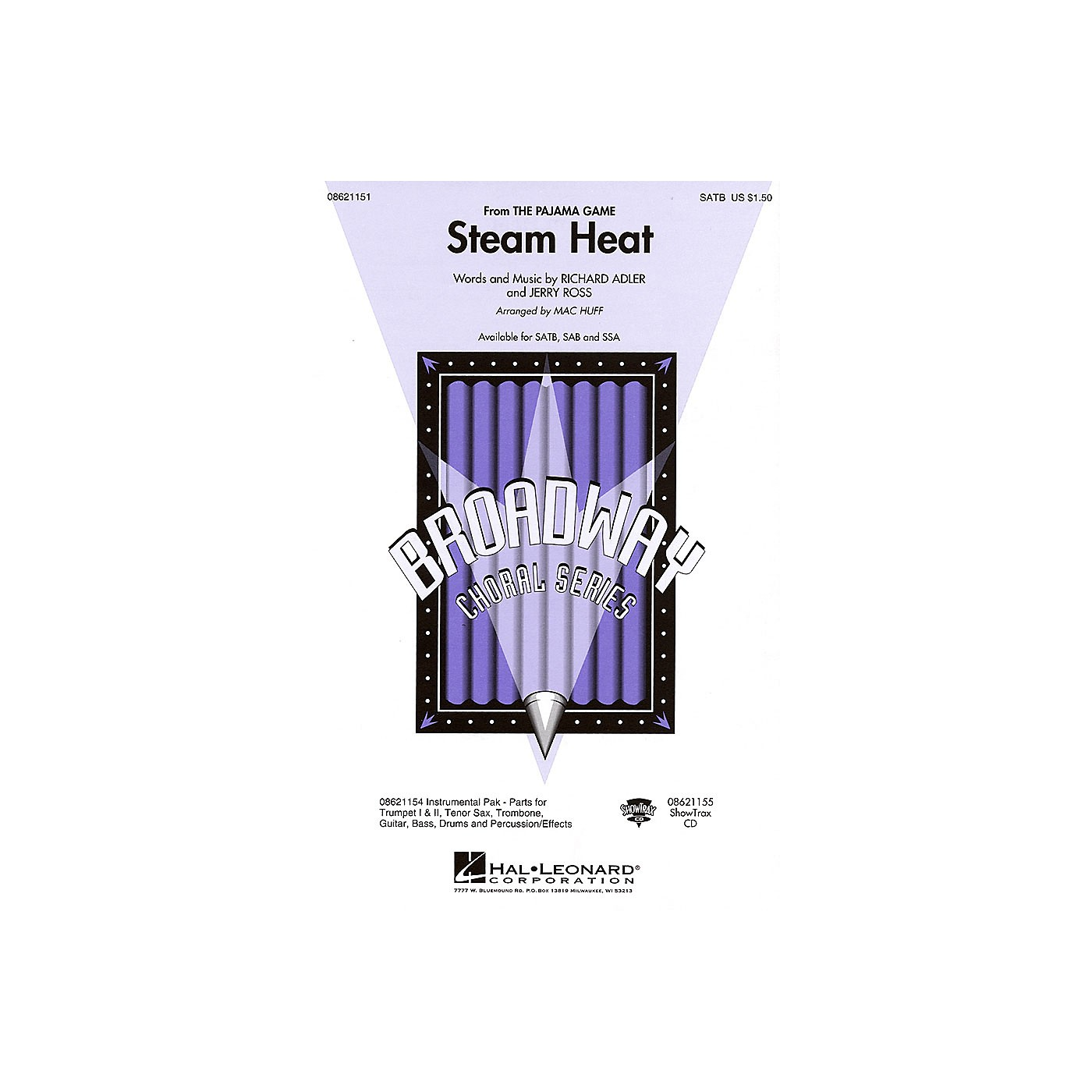 Hal Leonard Steam Heat (from The Pajama Game) SATB arranged by Mac Huff thumbnail