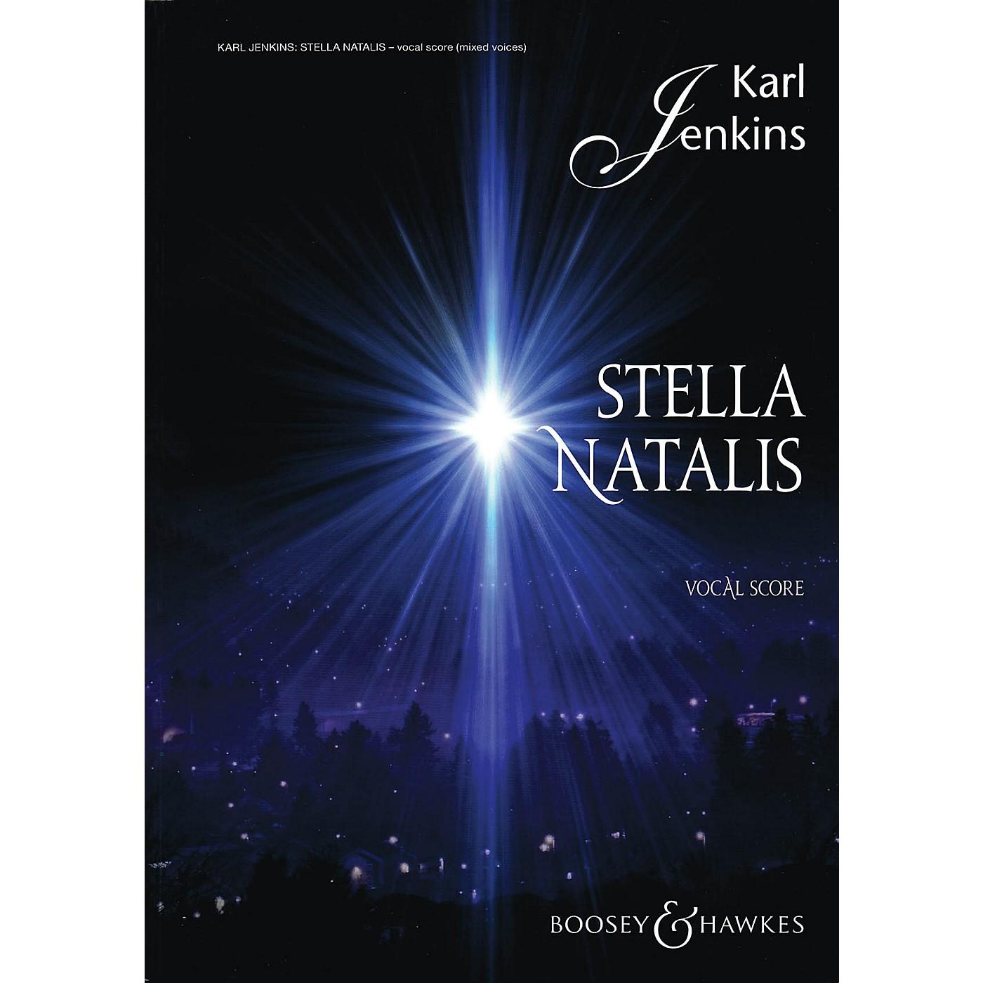 Boosey and Hawkes Stella Natalis (Sop Solo, Mixed Chorus, opt. SSA Chorus, and Vocal Score) SATB composed by Karl Jenkins thumbnail