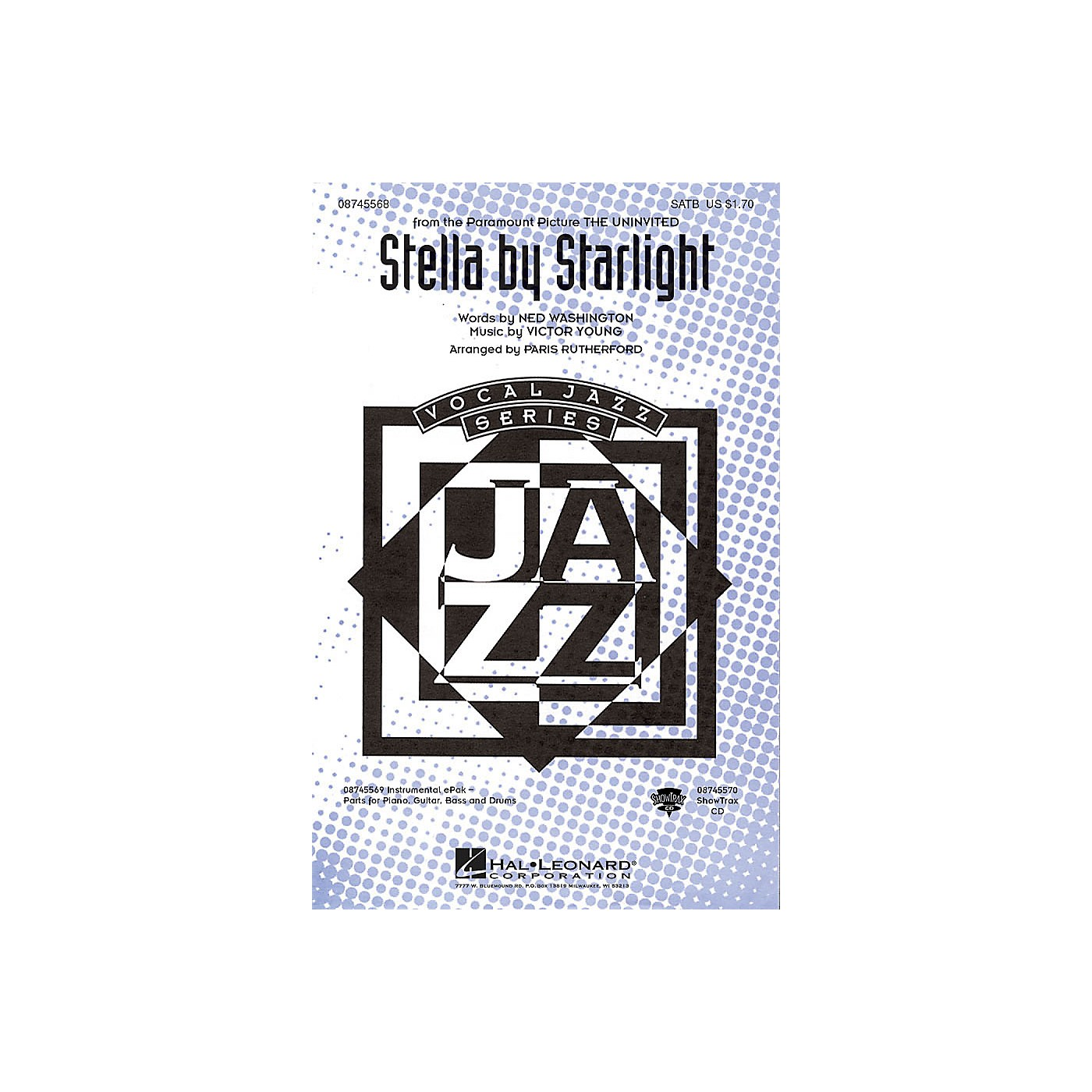 Hal Leonard Stella by Starlight SATB arranged by Paris Rutherford thumbnail