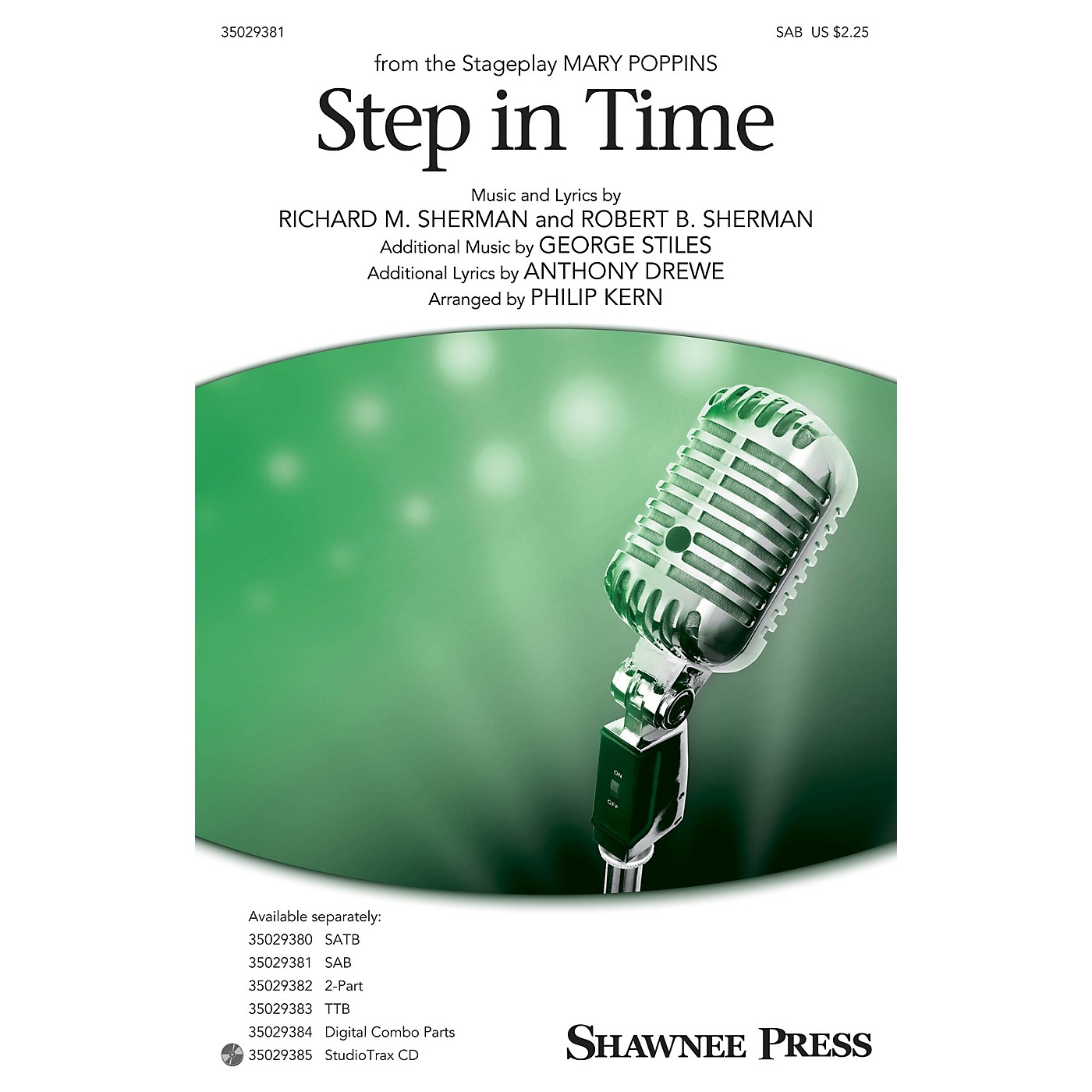 Shawnee Press Step In Time (from Mary Poppins) SAB arranged by Philip Kern thumbnail