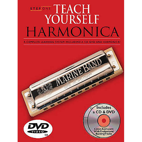 Music Sales Step One: Teach Yourself Harmonica Course Music Sales America Softcover with DVD by Various Authors thumbnail