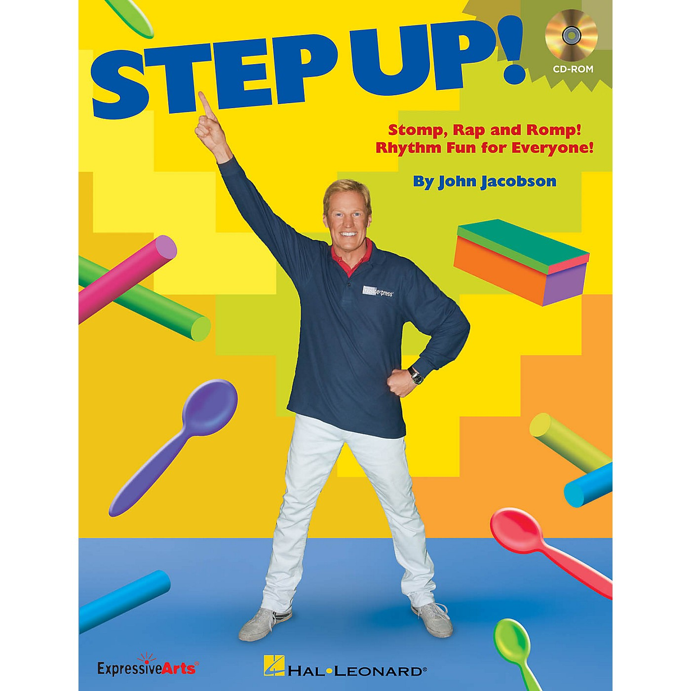 Hal Leonard Step Up! (Stomp, Rap and Romp! Rhythm Fun for Everyone!) CD-ROM Composed by John Jacobson thumbnail
