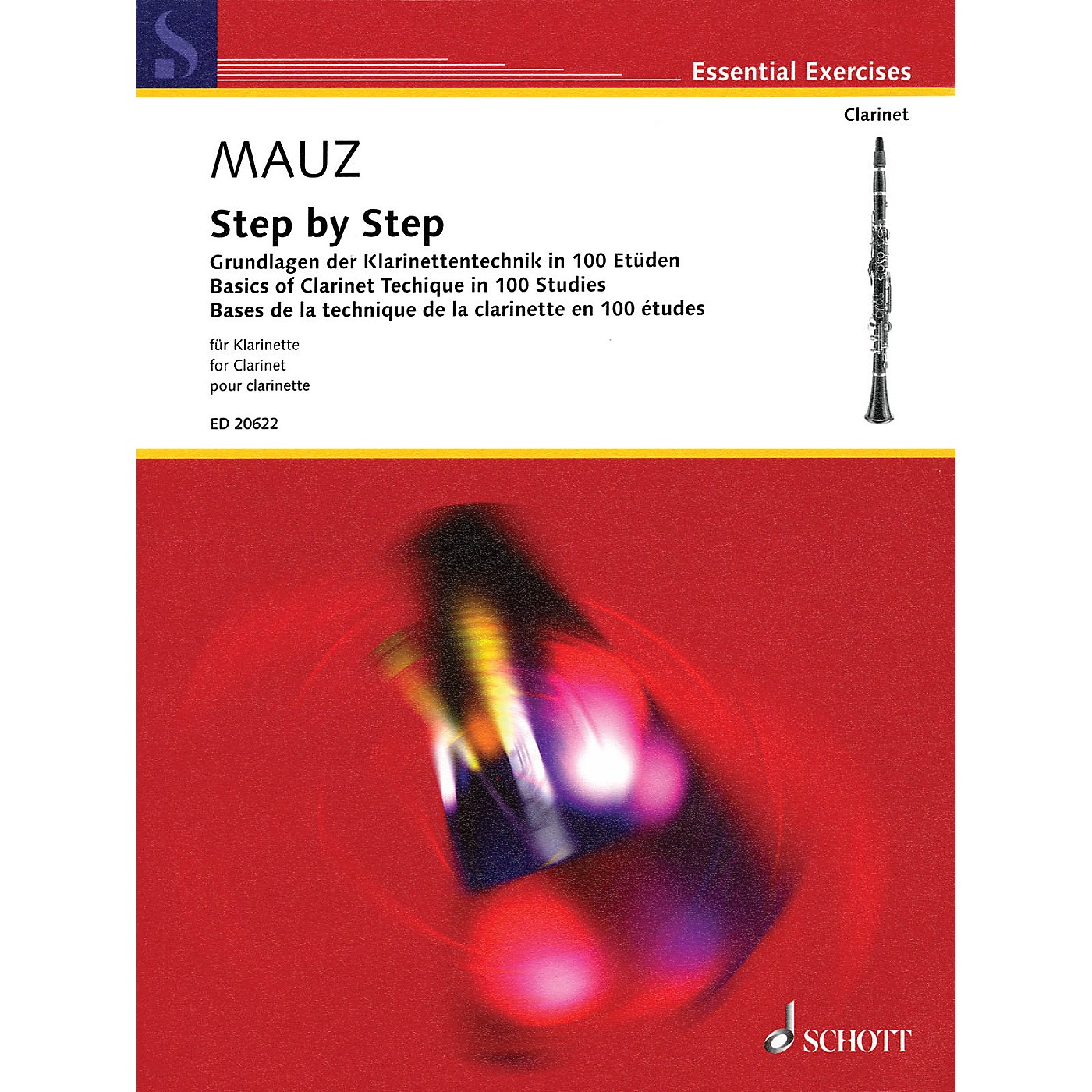 Schott Step by Step (Basics of Clarinet Technique in 100 Studies) Woodwind Method Series Softcover thumbnail