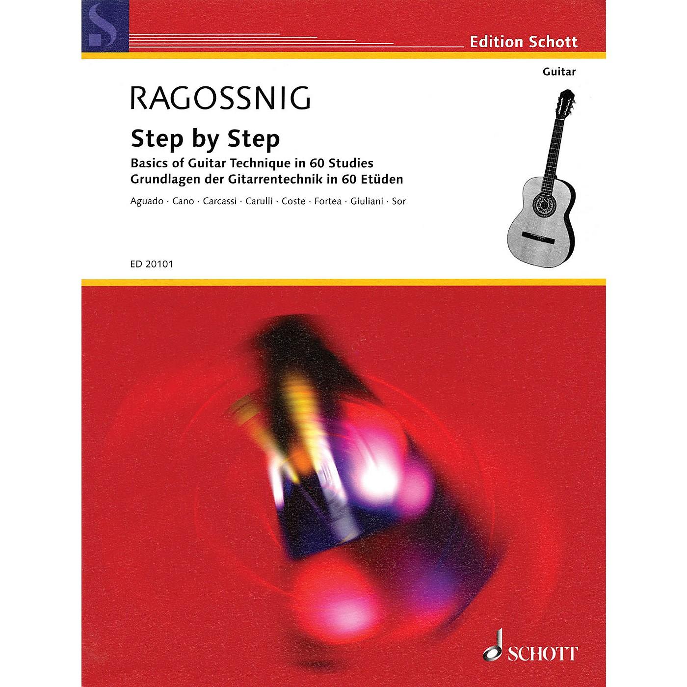 Schott Step by Step (Basics of Guitar Technique in 60 Studies) Guitar Series thumbnail