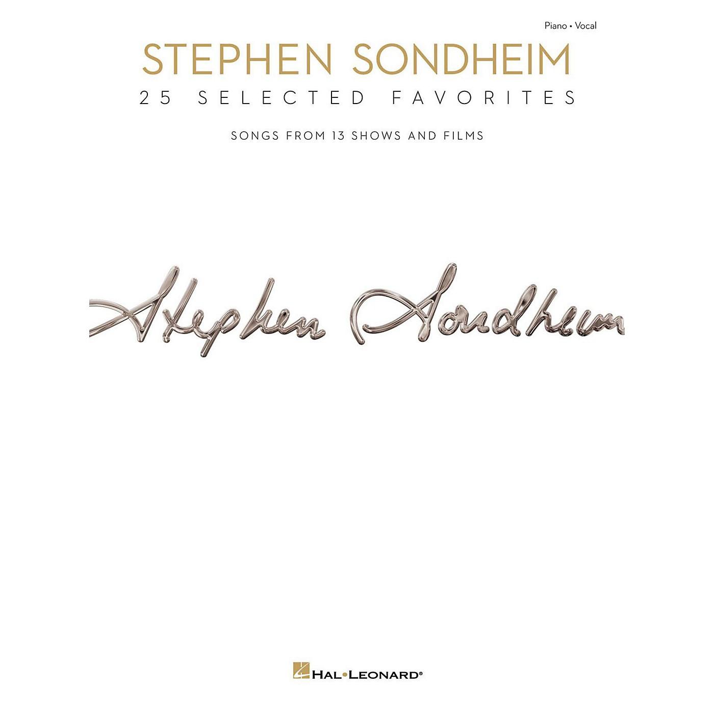 Hal Leonard Stephen Sondheim - 25 Selected Favorites for Piano/Vocal/Guitar thumbnail
