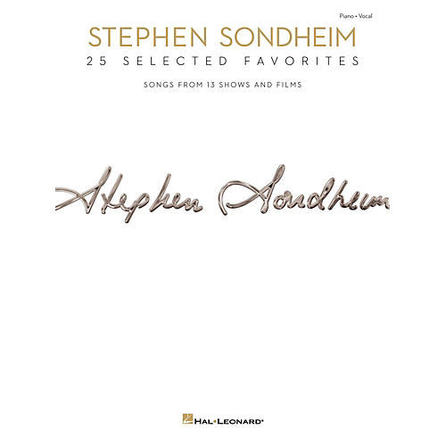 Hal Leonard Stephen Sondheim - 25 Selected Favorites for Piano/Vocal/Guitar thumbnail