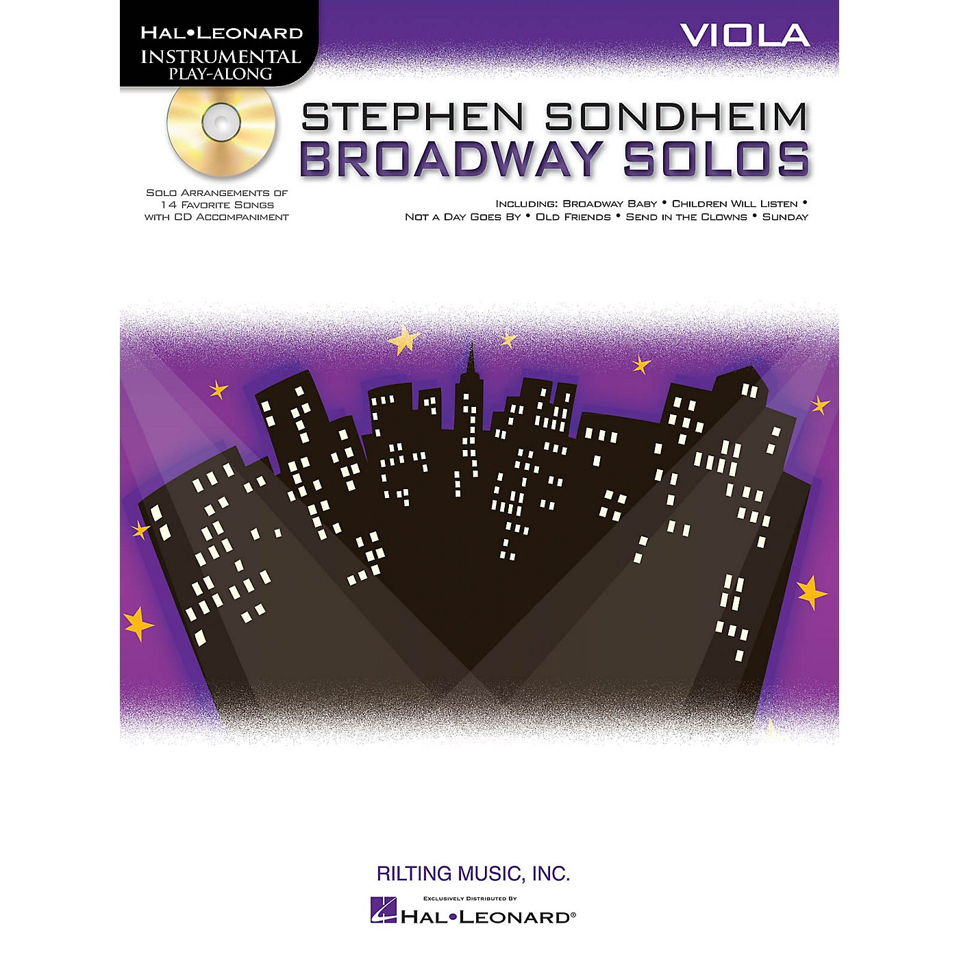 Hal Leonard Stephen Sondheim - Broadway Solos (Viola) Instrumental Play-Along Series Softcover with CD thumbnail