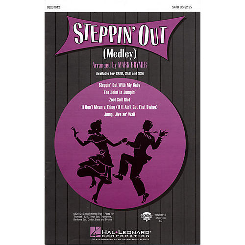 Hal Leonard Steppin' Out (Medley) Combo Parts Arranged by Mark Brymer thumbnail