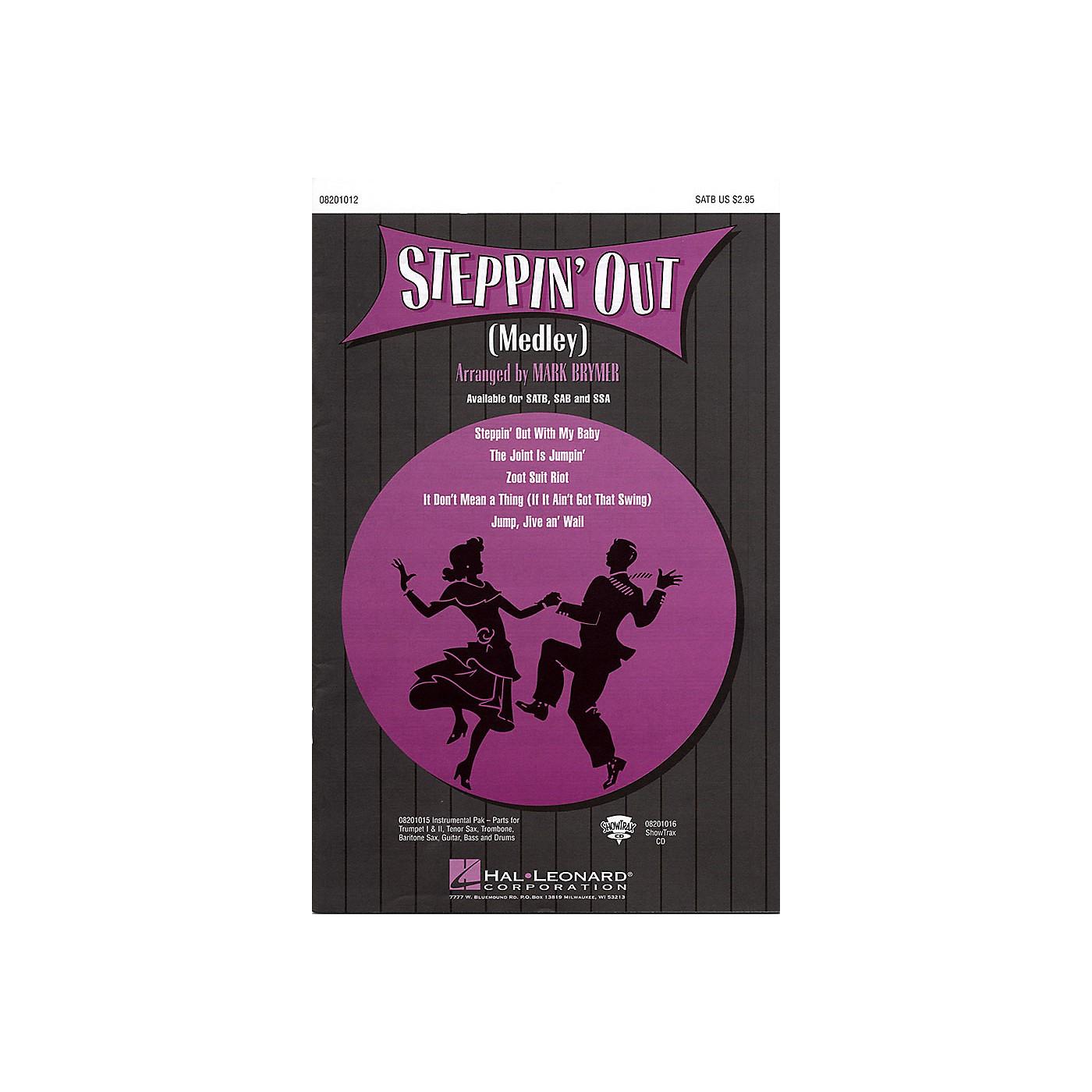 Hal Leonard Steppin' Out (Medley) SATB arranged by Mark Brymer thumbnail