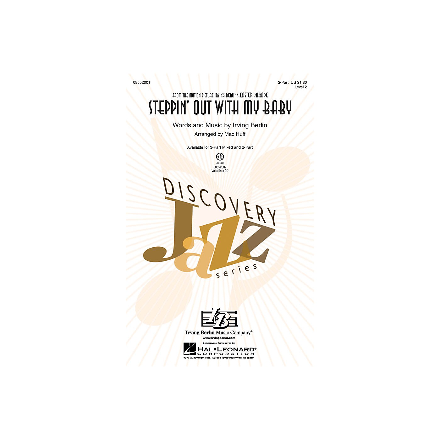 Hal Leonard Steppin' Out with My Baby (Discovery Level 2) 2-Part arranged by Mac Huff thumbnail