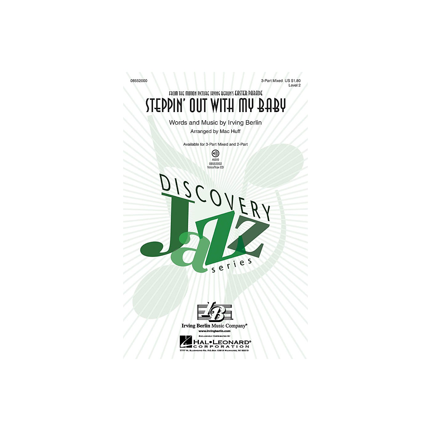 Hal Leonard Steppin' Out with My Baby (Discovery Level 2) 3-Part Mixed arranged by Mac Huff thumbnail