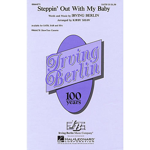 Hal Leonard Steppin' Out with My Baby SSA Arranged by Kirby Shaw thumbnail