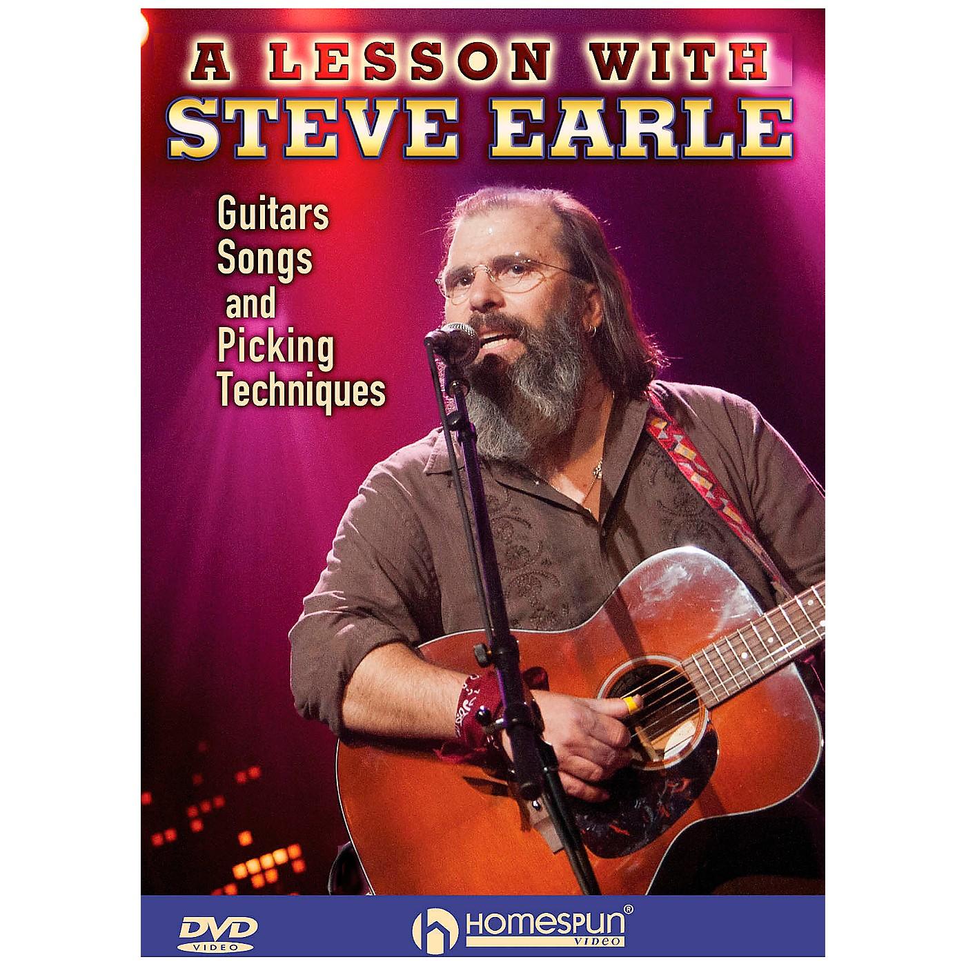 Homespun Steve Earle - Guitars, Songs, Picking Techniques And Arrangements DVD thumbnail