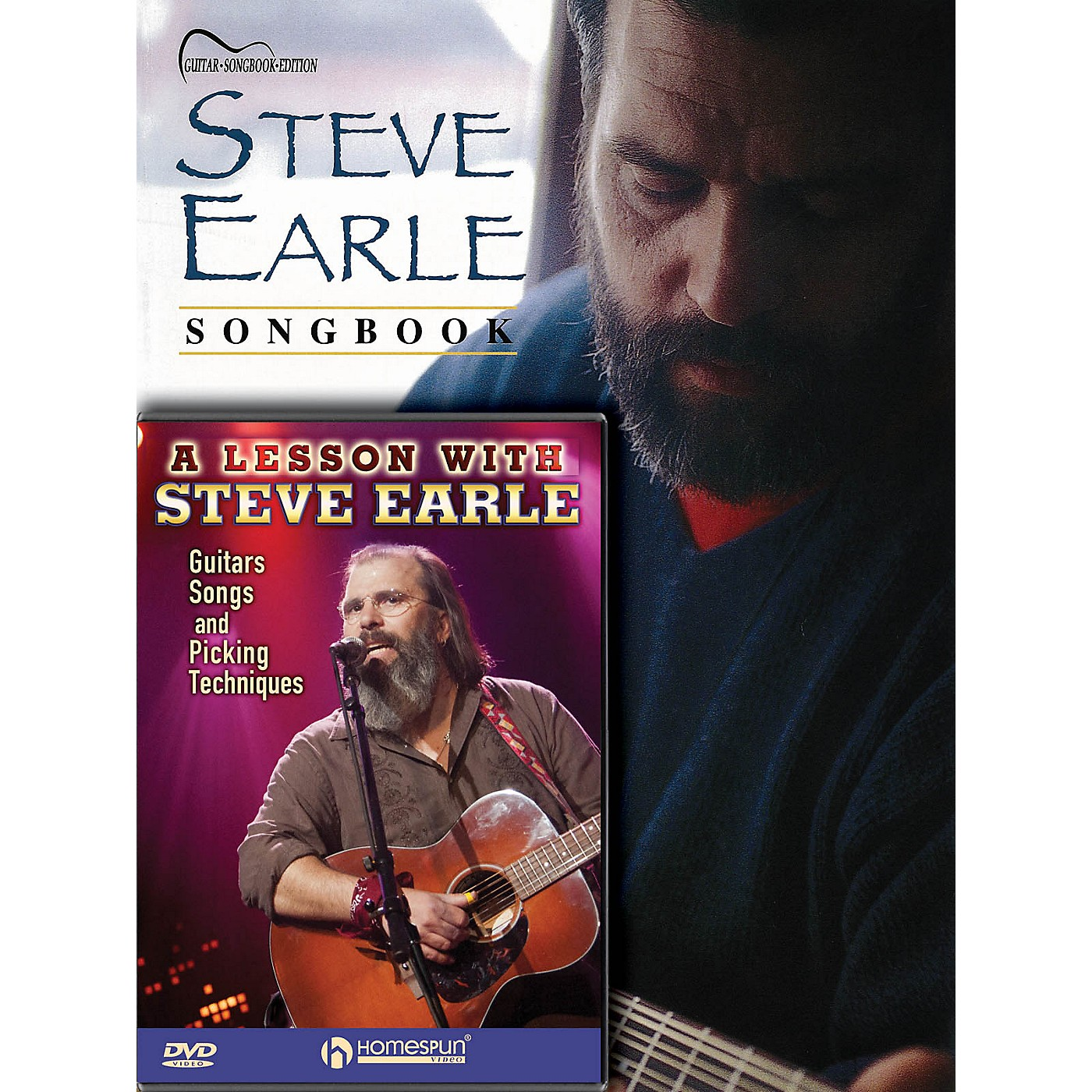 Homespun Steve Earle Guitar Pack Homespun Tapes Series Softcover with DVD Performed by Steve Earle thumbnail
