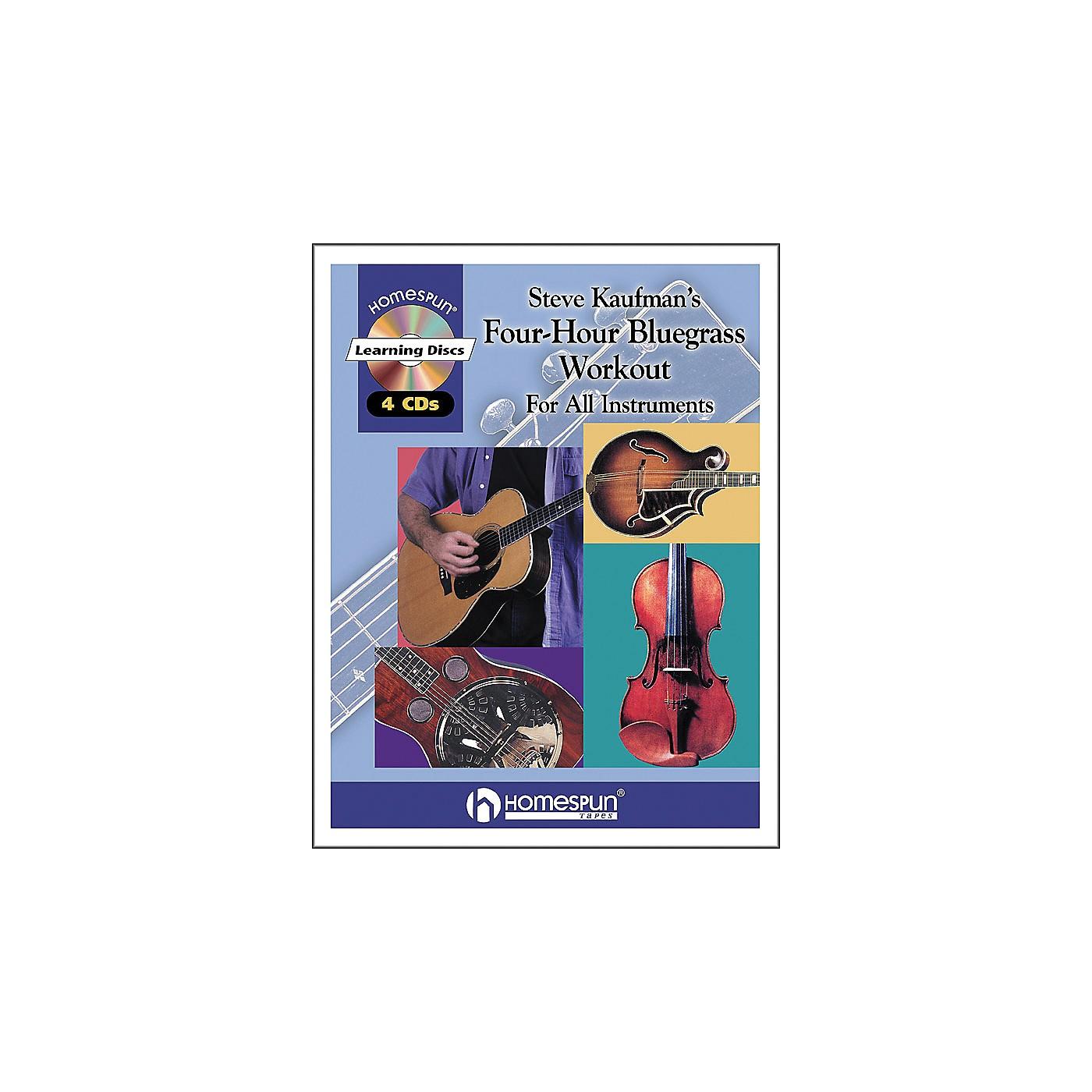 Homespun Steve Kaufman's 4 Hour Bluegrass Workout Book/4 CD Package thumbnail