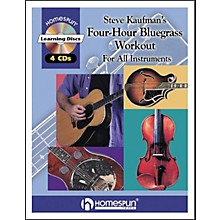 Homespun Steve Kaufman's 4 Hour Bluegrass Workout Book/4 CD Package